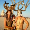 Golden Family At Burning Man