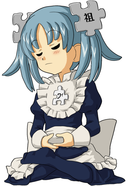 Meditating Anime Girl