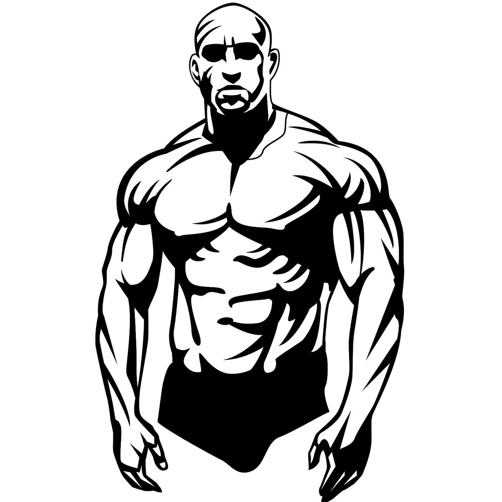 This is a picture of Exceptional Muscular Guy Drawing