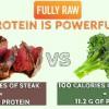 Steak vs. Broccoli!