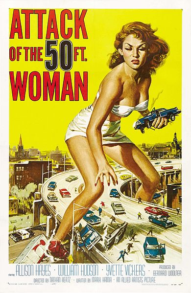 tall woman poster