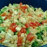 Veggie Tofu Yum. ~ Carolyn Riker {Breakfast Recipe}