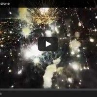 """This is what Fireworks look like when a Drone Flies through Them."" {Video}"