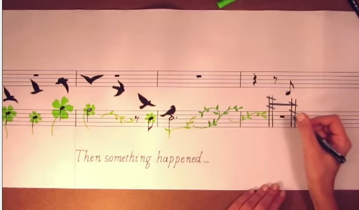 musical notes   drawings   man rediscovers harmony with