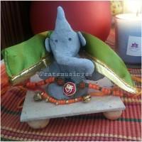 Celebrating Ganesh Chaturthi.