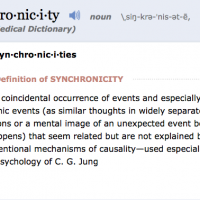 Synchronicity: for Those Who Have Eyes to See.