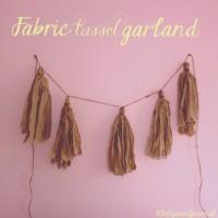 DIY: Fabric Tassel Garland.