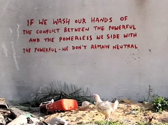 Banksy S Powerful Politically Charged Message For War Torn