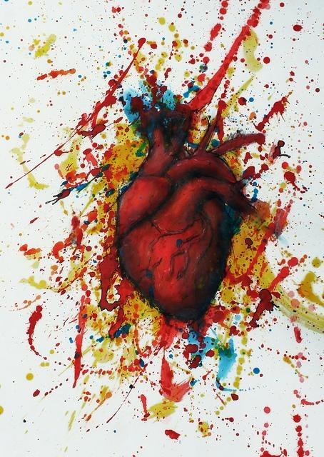 painting heart valentine love