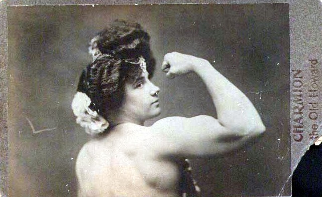 woman strong muscle vintage JPEG
