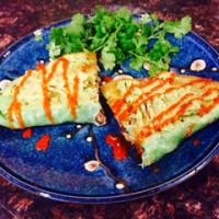Yummy Spinach Quesadilla Stuffed With Mushrooms & Home Made Guac. {Vegan Recipe}