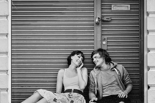 couple joy music love