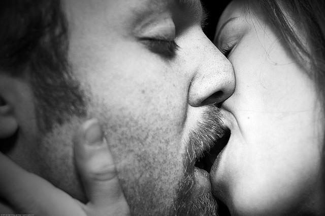 Sexy tongue kiss