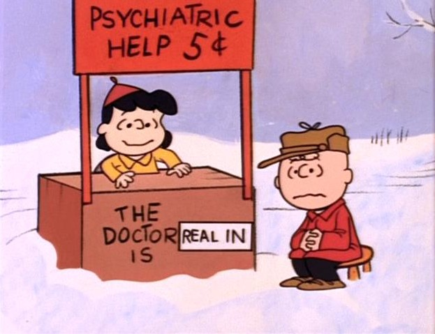 peanuts therapy psychiatrist doctor
