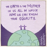 The Mindful Life Illustrated: A Lesson in Equal Rights from the Earth.