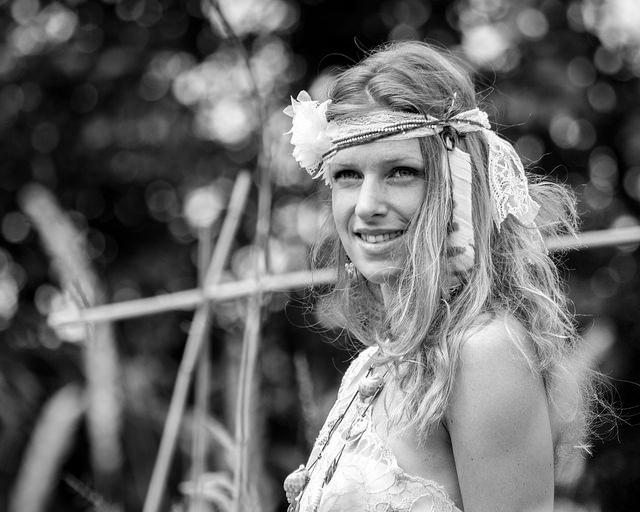 hippie woman pretty flower girl