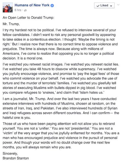 Write Donald Trump A Letter