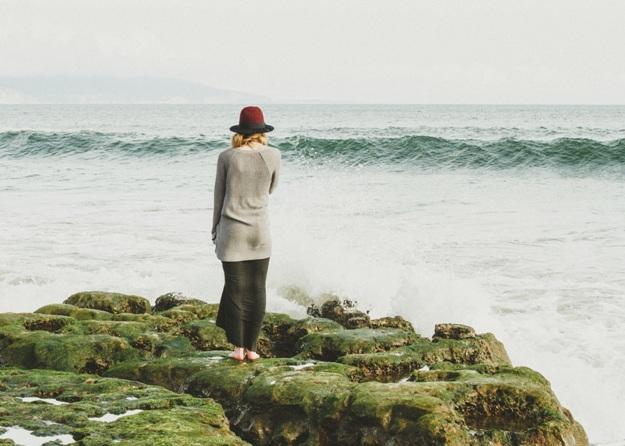 unsplash waves change transformation woman water ocean alone