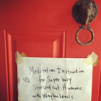 Meditation Instruction & Discussion for Super Busy Stressed-Out Humans.