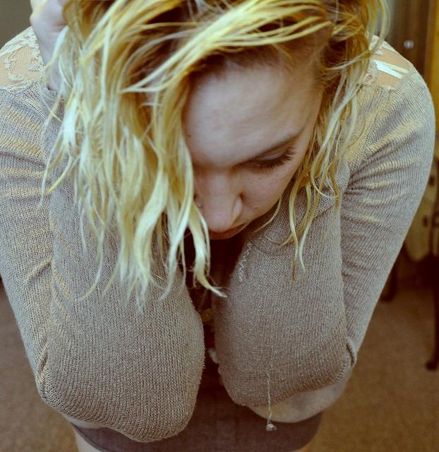 girl sad emotional angry