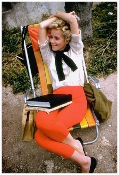Eva Marie Saint Alfred Hitchcock vintage ad movie photoshoot reading beauty woman