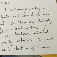 Woman Overhears 3 Girls Gossiping in Starbucks & Schools them on Kindness.