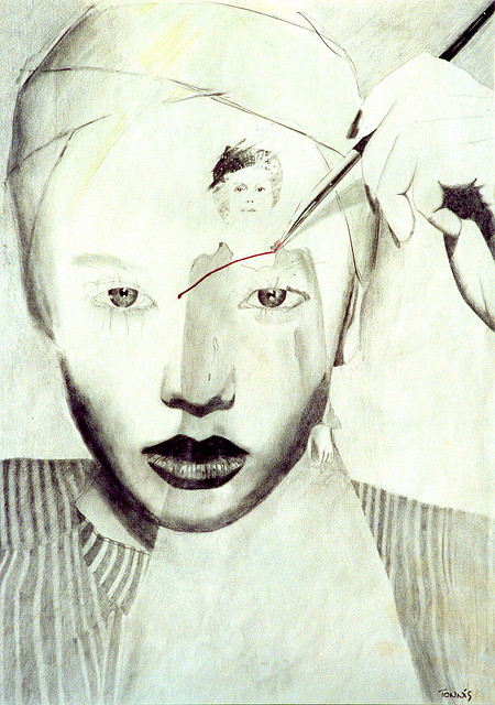 mental illness bpd borderline personality disorder woman art inner