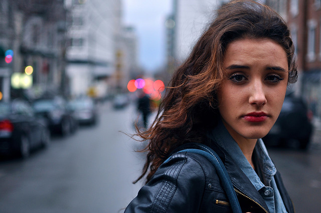 street woman city