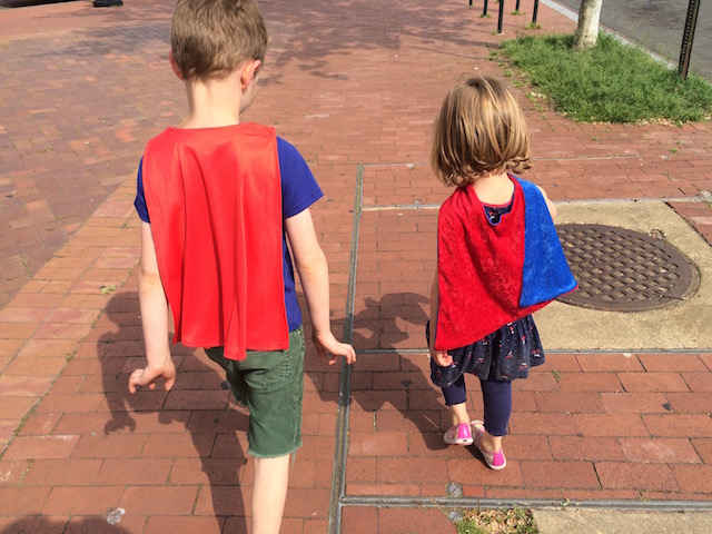 Children in capes