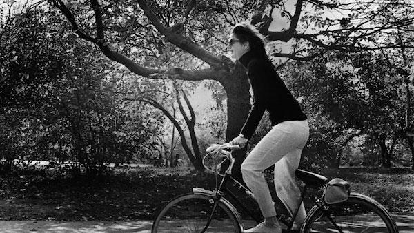 Jackie O Jackie Kennedy bike New york