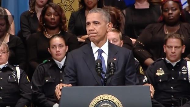 Obama video youtube screenshot dallas memorial