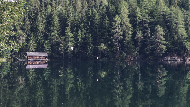 cabin lake self care alone quiet space nature
