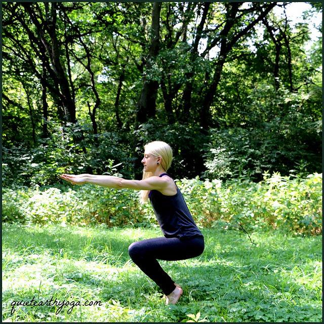 chair pose yoga utkatasana