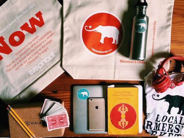 elephant schwag tote bag conscious consumerism elephant shop