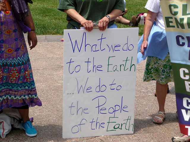 fracking earth eco climate change environment protest sign