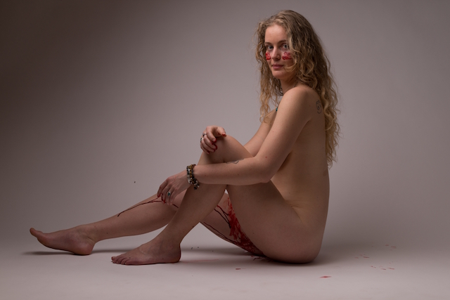 Nude ladies menses photo