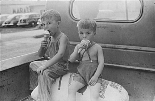 kids vintage ice cream summer