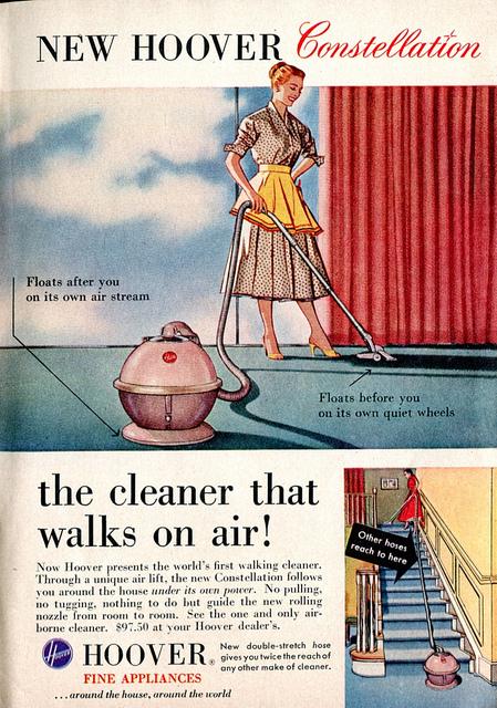 vintage vacuum ad home