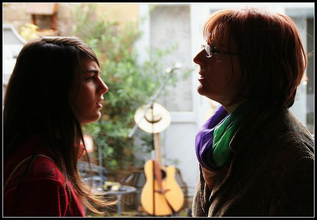 conversation discuss talk