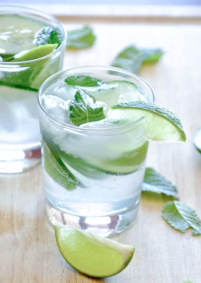 cucumber water mint lime not for reuse