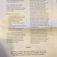 """ACLU placed a full page ad in the NYT addressed directly to Trump."""