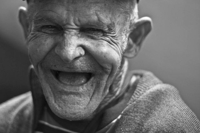 https://www.pexels.com/photo/grayscale-photo-of-laughing-old-man-156731/