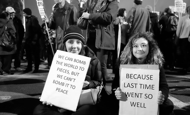 signs bombs peace