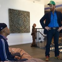 Waylon Lewis live with Russell Simmons at his new #yoga studio Tantris!