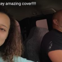 """Daughter records her dad singing 'Tennessee Whiskey.' Amazing."""