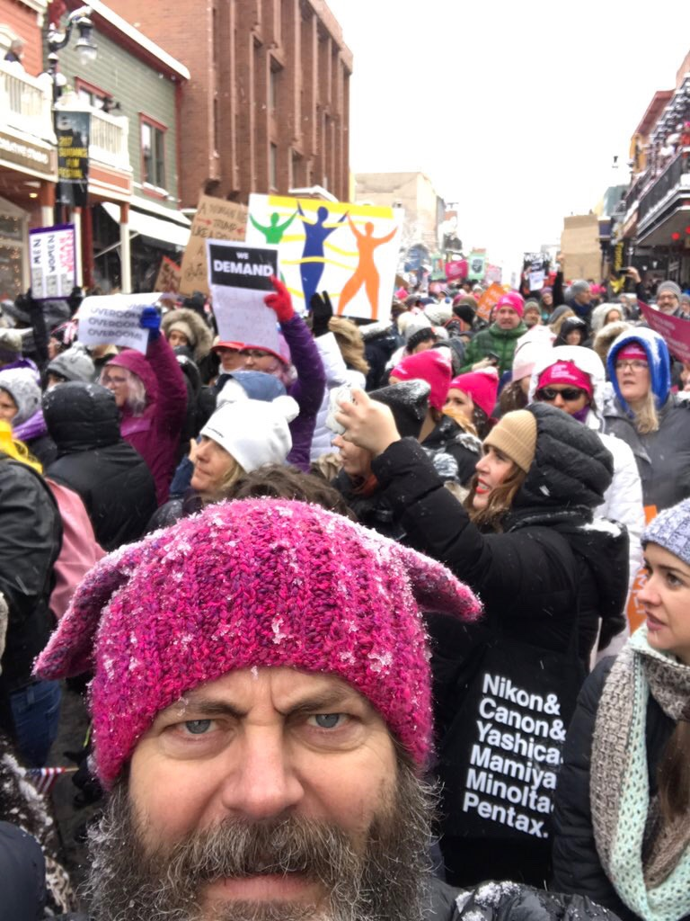 if you missed the womens march just watch this to get