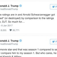 Trump vs Arnold: Your Apprentice ratings suck. You voted Kasich & Hillary. Here's Schwarzenegger's truly American response.