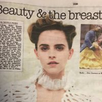The Photo of Emma Watson's breasts that caused a Feminist Twitter Storm.