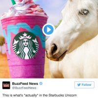 We Hope you Haven't had the Starbucks Unicorn Frappuccino Yet.