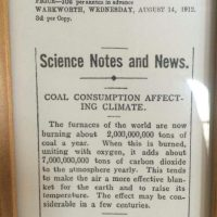 "Read this! ""A 100 year old paper article about 'climate change.'"""